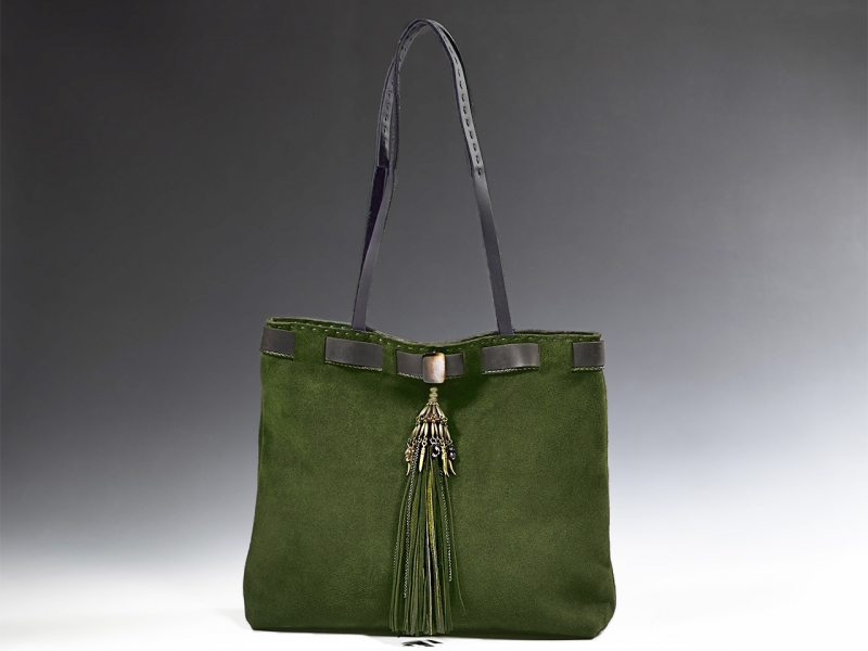 Green Fringe Bag