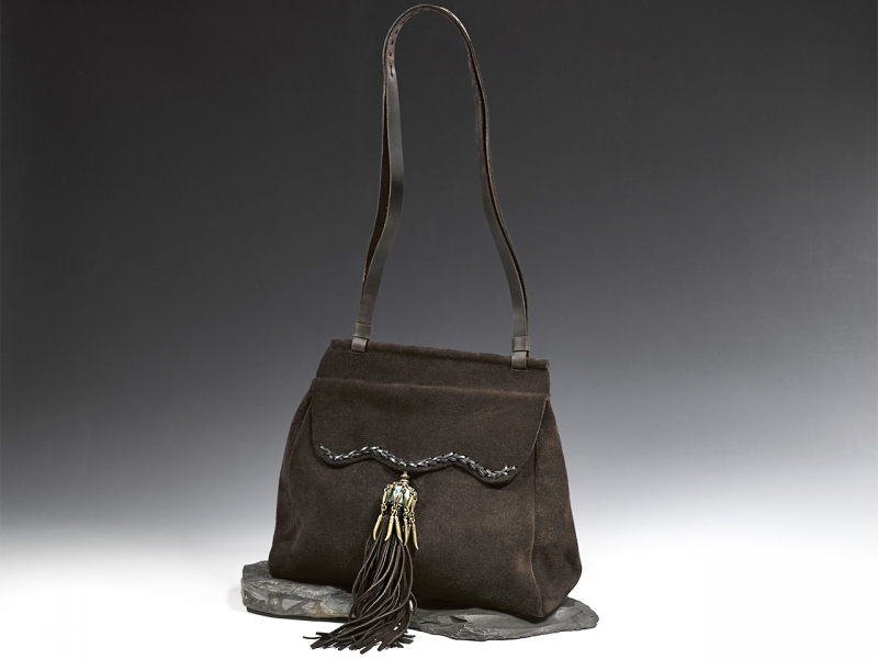 Brown Fringe Satchel