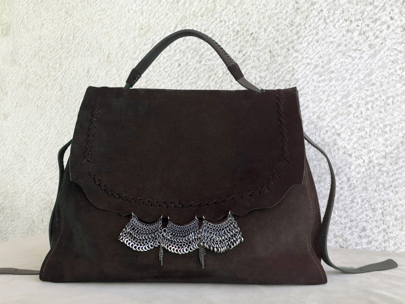 Dark Lace Satchel